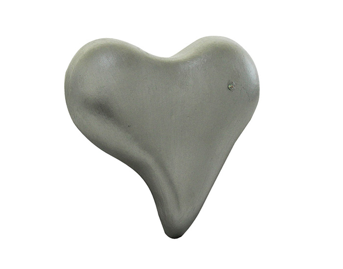 CORAZON TRADICIONAL PLATA 14 CM DECORACION  PARED