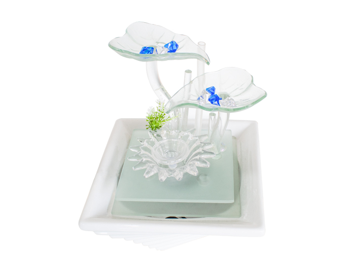 ESCULTURA DECORATIVA FUENTE CRYSTAL ICE (25×23.5×23.5cm)