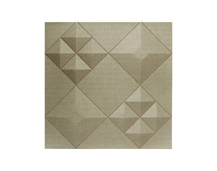 PANEL 3D DAVE 326 ROMBOS COLOR CHAMPAGNE (60×60cm)